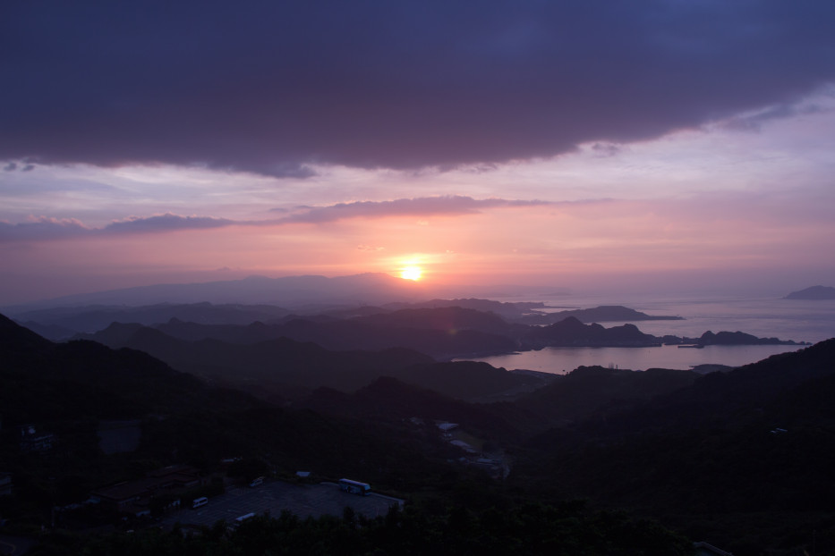 Sunset view from Jiufen